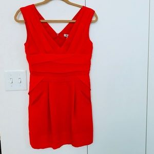 Red BCBG cocktail dress